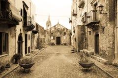 老教会,利帕里岛 库存图片