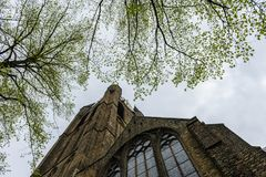 老教会,德尔福特塔  库存图片