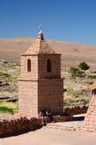 老教会 Socaire 圣佩德罗火山de阿塔卡马省 智利 免版税库存照片
