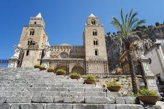 老教会cefalà ¹,西西里岛意大利 免版税库存照片