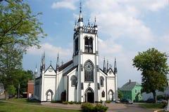老教会lunenburg 免版税库存图片