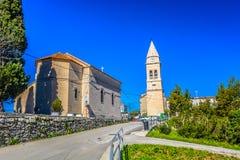 老教区教堂在Stobrec,达尔马提亚地区 库存照片