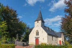 老教堂在富兰德比利时 库存图片
