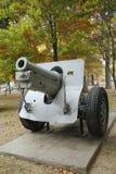 老教规 这是M1918 155mm短程高射炮是半新i 免版税库存图片