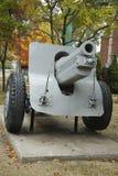 老教规 这是M1918 155mm短程高射炮用于WWI和WWII 库存图片