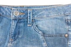 老斜纹布的口袋 图库摄影