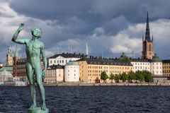 老斯德哥尔摩城镇 库存照片