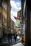 老斯德哥尔摩城镇 库存图片