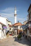老斯科普里马其顿义卖市场老镇旅游区  库存照片
