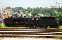 老斯洛文尼亚火车 免版税库存图片