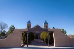 老新墨西哥天主教徒Chiurch 免版税图库摄影