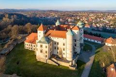 老新生城堡在Wisnicz,波兰 图库摄影