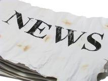 老新闻 免版税图库摄影