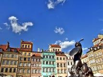 老方形城镇华沙 免版税图库摄影