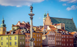 老方形城镇华沙 库存照片
