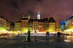 老方形城镇 老镇市中心,华沙 免版税库存照片