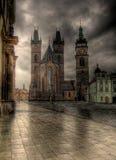 老方形城镇 库存图片