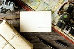 老旅行的设备 免版税库存图片