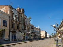 老旅馆布里斯托尔在布勒伊拉,在共产主义期间 图库摄影