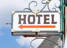 老旅馆符号 免版税库存图片