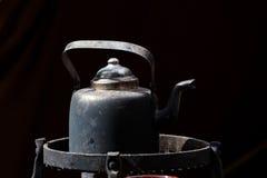 老无奶咖啡罐 库存图片