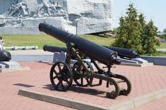 老无膛线炮的枪在博物馆 库存图片