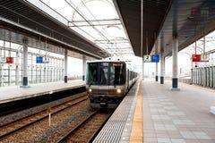 老日本人火车 免版税库存照片