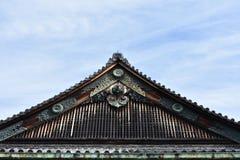 老日本城堡屋顶 库存图片