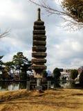 老日本塔 库存照片