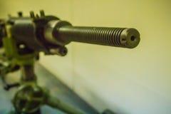 老日本轻机枪7 7 mm在公开博物馆 轻机枪是机枪被设计由indiv使用 图库摄影