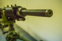 老日本轻机枪7 7 mm在公开博物馆 轻机枪是机枪被设计由indiv使用 免版税库存图片