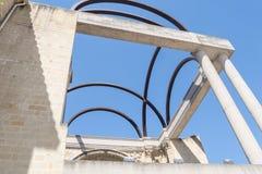 老旧金山女修道院门面细节,实际上观众席, B 库存照片