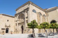 老旧金山女修道院,实际上观众席,巴伊扎,西班牙 免版税库存图片