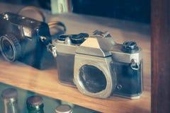 老时尚古董影片照相机 图库摄影