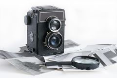 老时尚古董照相机 库存照片