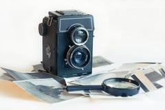 老时尚古董照相机 免版税图库摄影