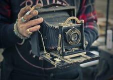 老时尚照相机 免版税图库摄影