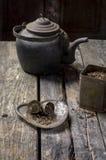 老时尚茶时间 免版税库存图片