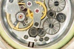 老时钟宏观结构 库存图片