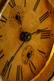 老时钟表盘 免版税图库摄影