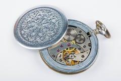 老时钟结构 免版税库存照片