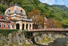 老有历史的温泉在Baile Herculane 库存照片