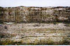 老有雪的葡萄酒木墙壁 冬天和圣诞节背景 库存图片