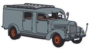 老服务卡车 免版税库存照片
