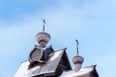 老木东正教的圆顶 库存照片