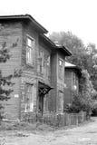 老木大厦在沃洛格达州的中部 免版税库存照片
