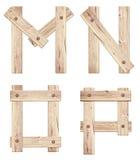 老木字母表信件由木板条做成 库存照片