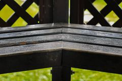老木就座在庭院里 免版税图库摄影