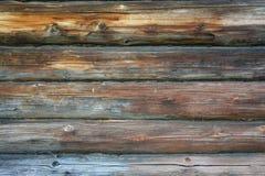 老木屋的照片墙壁 免版税图库摄影