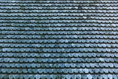 老木屋顶纹理 免版税库存照片